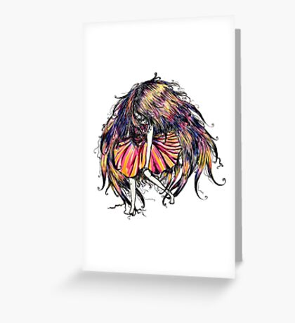 Faceless Girl is floating Greeting Card