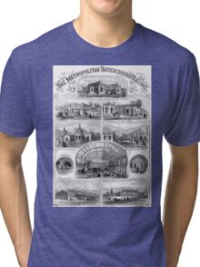 Vintage Antique Engraving Tri-blend T-Shirt