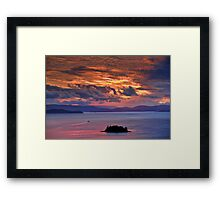 Sunset over the Coral Sea Framed Print