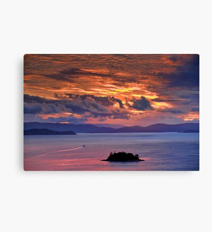 Sunset over the Coral Sea Canvas Print