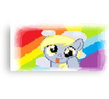 Derpy Hooves Pixel My Little Pony Brony Pegasister Canvas Print