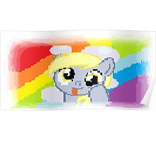 Derpy Hooves Pixel My Little Pony Brony Pegasister Poster