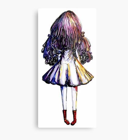 Girl and Red Doc Metal Print
