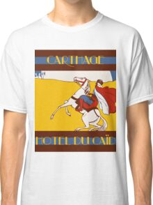 Vintage style 1920s Carthage travel advertising  Classic T-Shirt