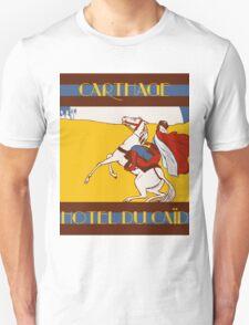 Vintage style 1920s Carthage travel advertising  Unisex T-Shirt