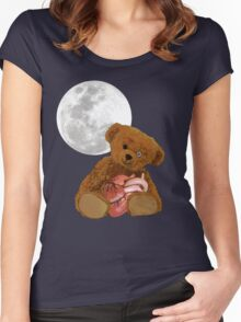 bear with a heart Women's Fitted Scoop T-Shirt