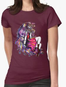 Faceless Girl & Red Doc Womens Fitted T-Shirt