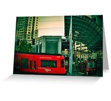 San Diego Trolley Series American Plaza Greeting Card