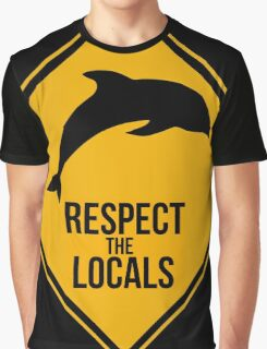 Respect the dolphins - Caution sign Graphic T-Shirt