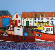 Port Seton Boats 2 - boats in harbour by Michelle Bailey