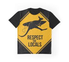Respect the real locals. Kangaroo version. Australia surf. Graphic T-Shirt