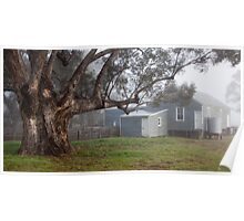 Misty Shearing Shed Poster
