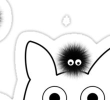 Mini Totoro and Soot Sprites Sticker