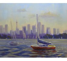 City harbour boats  Photographic Print