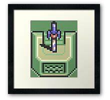 Master Sword Pedestal The Legend of Zelda Framed Print