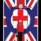 Vintage scooter with St George Cross by Auslandesign