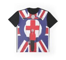 Vintage scooter with St George Cross Graphic T-Shirt