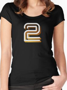 Retro BBC2 logo Women's Fitted Scoop T-Shirt