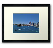 Blue Sky Sydney Harbour Framed Print