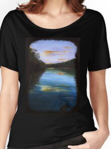 The peaceful river - black swan series #1 Women's Relaxed Fit T-Shirt