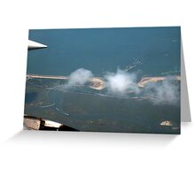 Cotton Ball Puffs of Clouds over the Jersey Shore Greeting Card