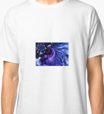 Dark Blue Whirlpool in Space Classic T-Shirt