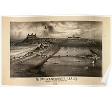 Panoramic Maps View of Nantasket Beach looking SE from Sagamore Hill Poster