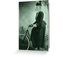 Bike Riding cat women Greeting Card