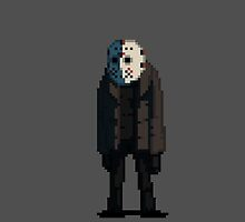 Jason Voorhees in pixels by lrtvri