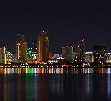 City Lights San Diego Skyline by seeyoutoo