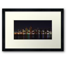 City Lights San Diego Skyline Framed Print