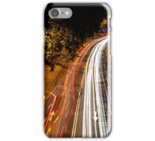 Light trails off Waterloo Bridge iPhone Case/Skin