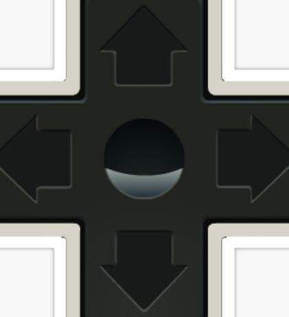 Cross NES controller pad buttons. Sticker