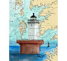 Solomons Lump Lighthouse MD Nautical Chart Peek Photographic Print
