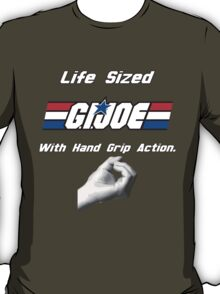Life Sized G.I. Joe With Gripping Hand Action T-Shirt