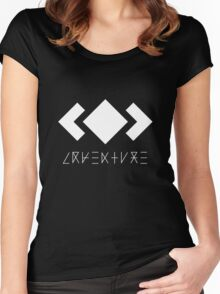 MADEON ADVENTURE LOGO WHITE Women's Fitted Scoop T-Shirt