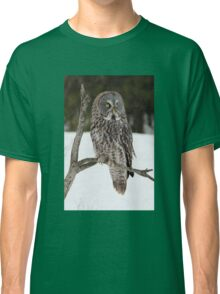 Great Grey Owl portrait Classic T-Shirt