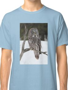 Great Grey Owl portrait Classic T-Shirt