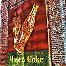 Old Coke Sign (approx 1940's found in Tarrytown, GA) by Sanguine