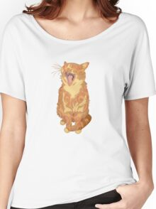 Yawning Cute Pussy Women's Relaxed Fit T-Shirt