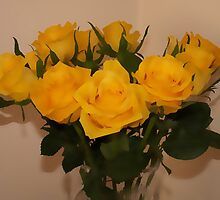 Still life ... yellow roses  by OlaG