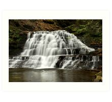 Swept Away Waterfall Landscape Art Art Print