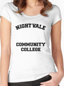 Welcome To Night Vale - Night Vale Community College Design Women's Fitted Scoop T-Shirt