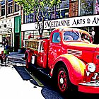 Antique Fire Truck by Margot Ardourel