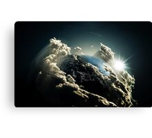 Earth vs Space Canvas Print