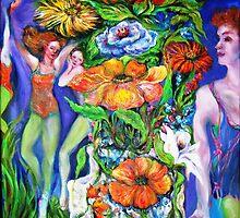 Garden Dance Class by Barbara Sparhawk