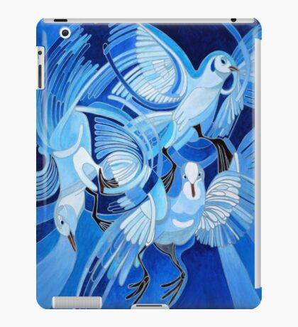 Muge's Pigeons in Blue iPad Case/Skin