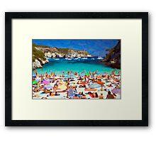 Minorca-Cala Maccarelleta Framed Print