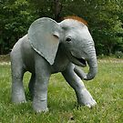 Life-sized Gourd Sculpted baby elephant by Cara Bevan