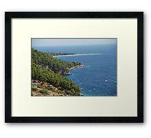 adriatic sea croatia Framed Print